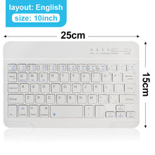 Load image into Gallery viewer, Mini Wireless Keyboard Bluetooth Keyboard For ipad Phone Tablet Rubber keycaps Rechargeable keyboard For Android ios Windows