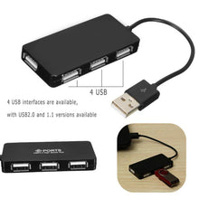 Load image into Gallery viewer, 4 Port USB Hub 2.0 Splitter USB2.0 Hubs Multi Port USB Adapter Hab PC Laptops Notebook Computer Accessories Multiport