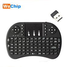Load image into Gallery viewer, Wechip i8 Russian English Version 2.4GHz Wireless Keyboard Air Mouse With Touchpad Handheld Work With Android TV BOX Mini PC 18