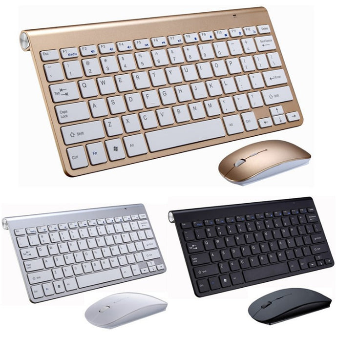2.4G Wireless Keyboard and Mouse Mini Multimedia Keyboard Mouse Combo Set For Notebook Laptop Mac Desktop PC TV Office Supplies