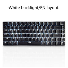 Load image into Gallery viewer, Ajazz AK33 82 key Gaming Mechanical Keyboard Russian/English layout backlight USB Wired anti-ghosting Blue/Black switch pc gamer