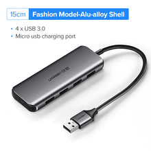 Load image into Gallery viewer, Ugreen USB 3.0 HUB Multi USB Splitter 3 USB3.0 Port with Micro Charge for MacBook Surface Pro 6 PC Computer Accessories USB HUB
