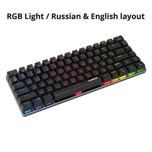 Ajazz AK33 82 key Gaming Mechanical Keyboard Russian/English layout backlight USB Wired anti-ghosting Blue/Black switch pc gamer