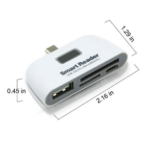 CHYI Mini USB C HUB Multi USB 2.0 Hub With SD/Micro SD Card Reader Type C OTG Splitter Adapter For PC Computer Accessories