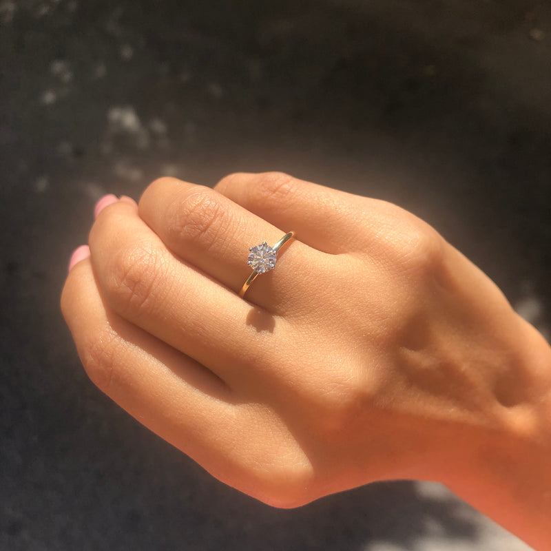 Classic Solitaire Engagement Ring - Politia Jewelry