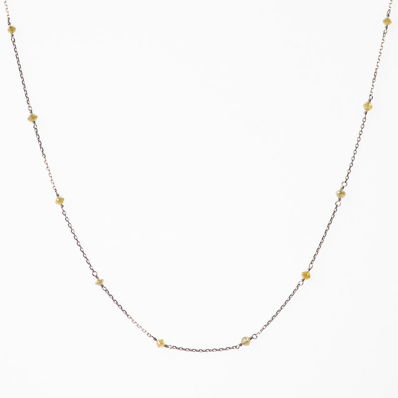 Beaded Yellow Diamond Necklace - Politia Jewelry