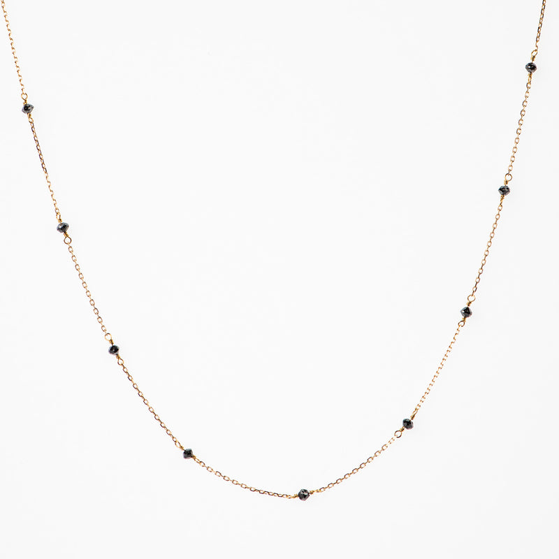 BEADED BLACK DIAMONDS NECKLACE - Politia Jewelry