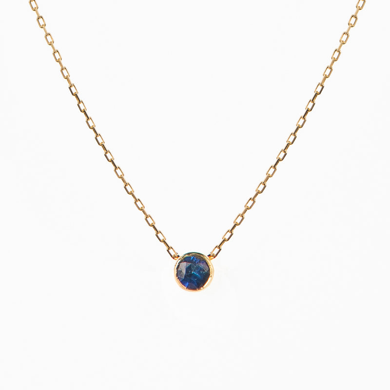 Little Round Sapphire Necklace - Politia Jewelry