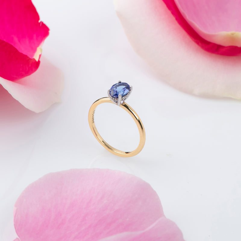 Delicate Oval Tanzanite Ring