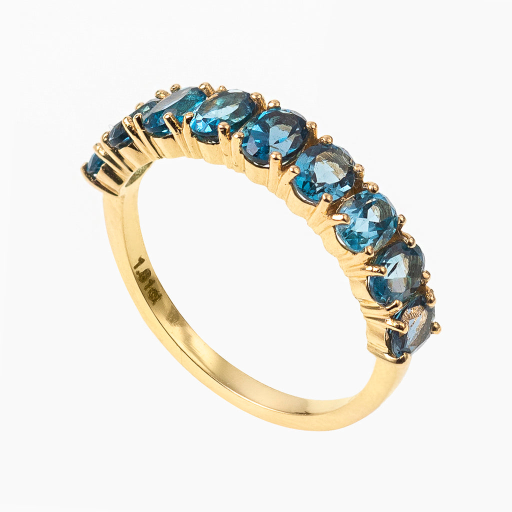 Oval Cut London Blue topaz Band