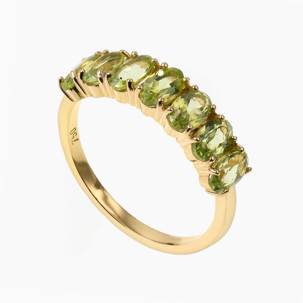 Oval Cut Peridot Band