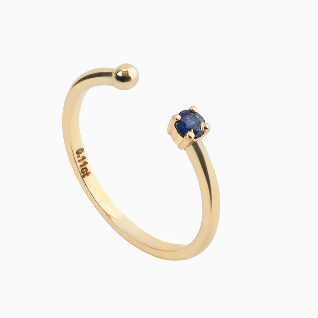 Open Sapphire Ring