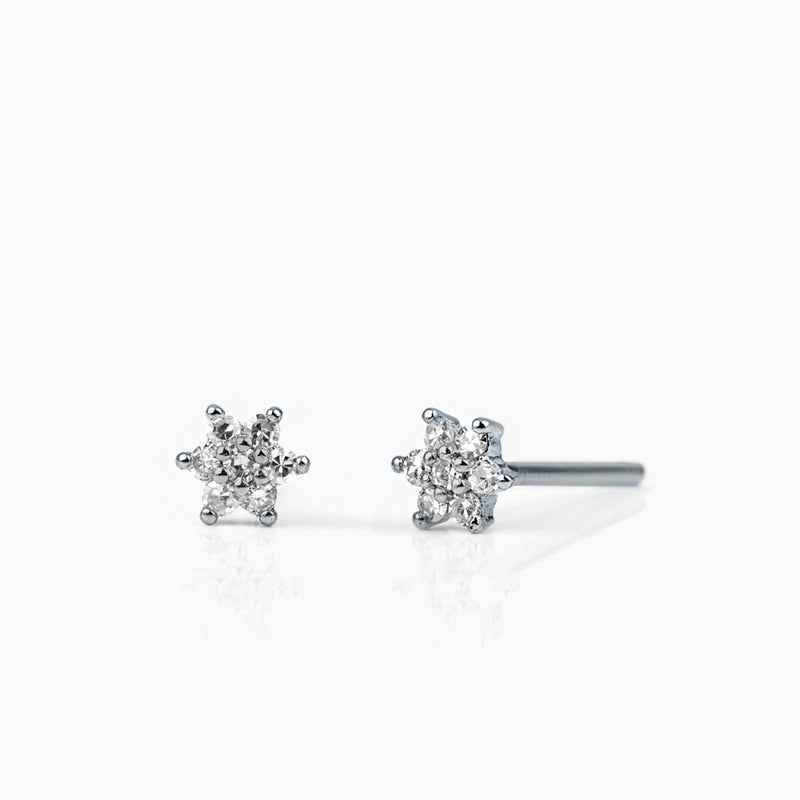 Little Diamond Flower Stud