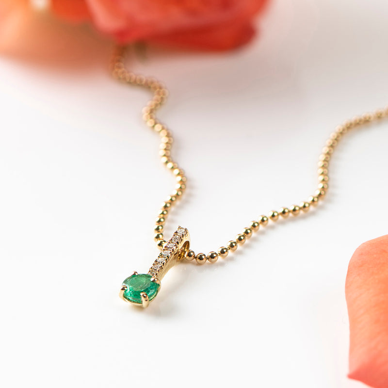 Emerald and Diamonds Pendant