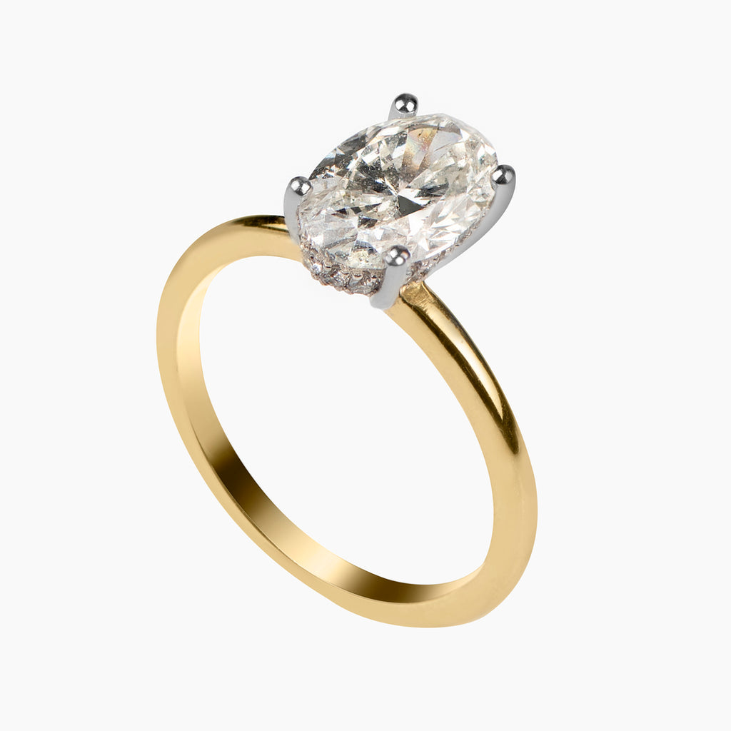 Delicate Engagement Ring with Hidden Detail