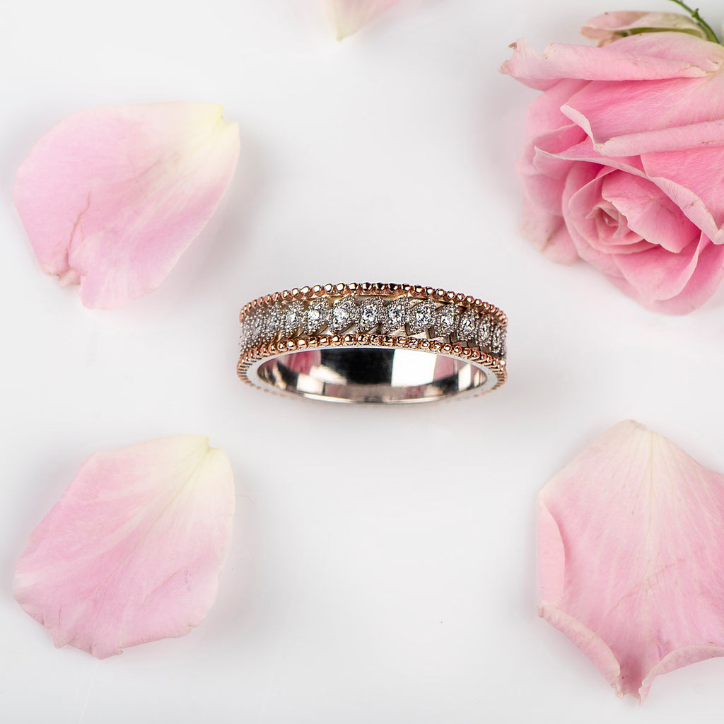 Marquise Illusion Band with Diamonds