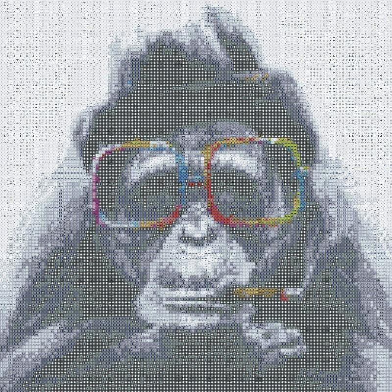 Diamond Painting - Hipster Chimp