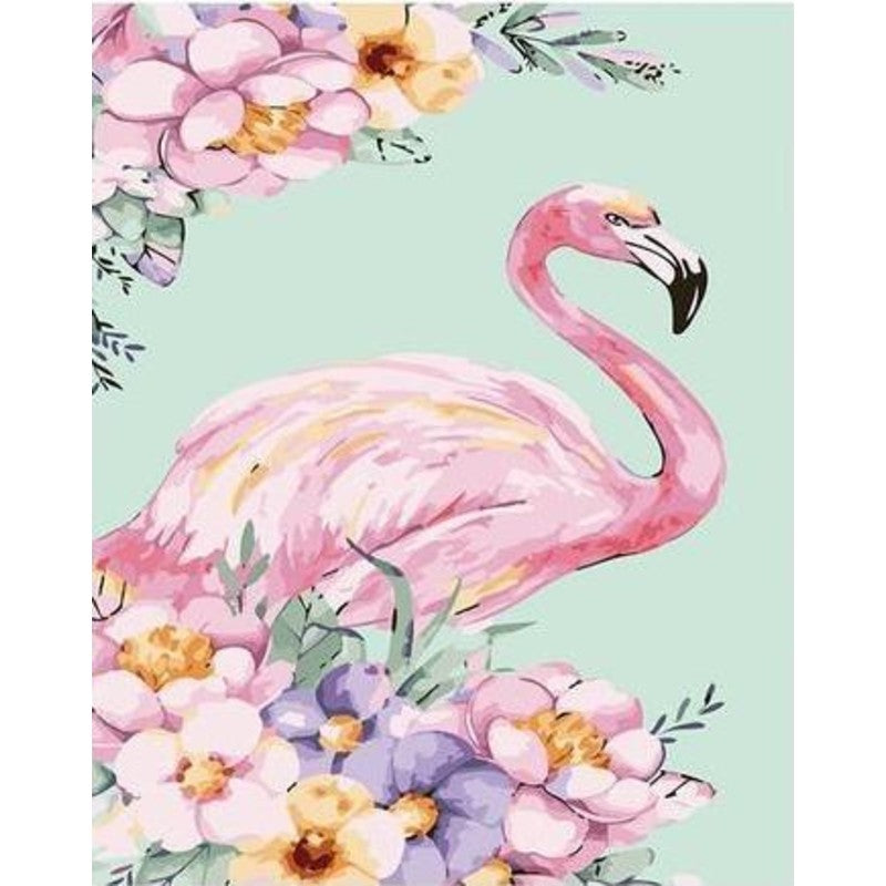 Flamingo Flores Paint By Numbers,