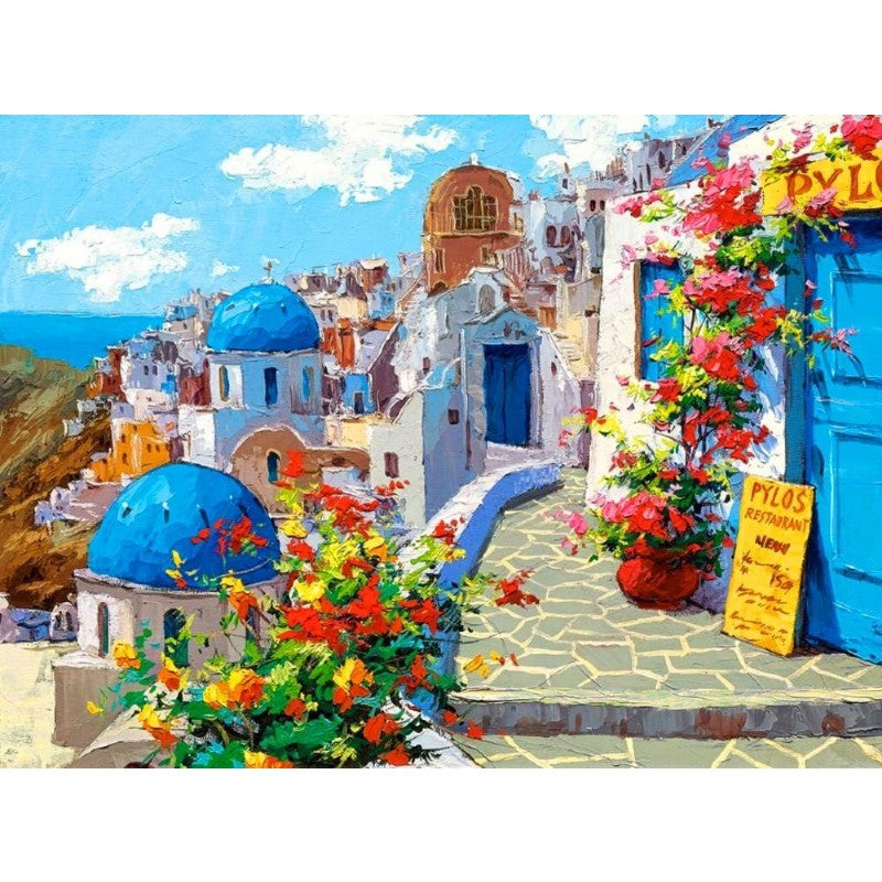 Flores Grecia  Paint By Numbers