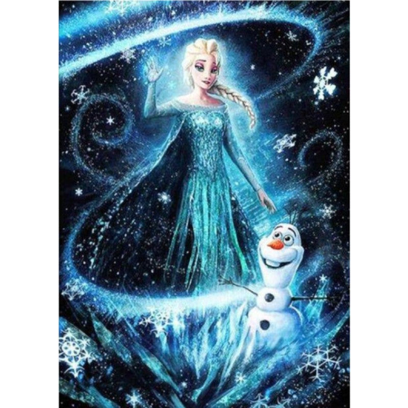 Diamond Painting - Elsa y Olaf