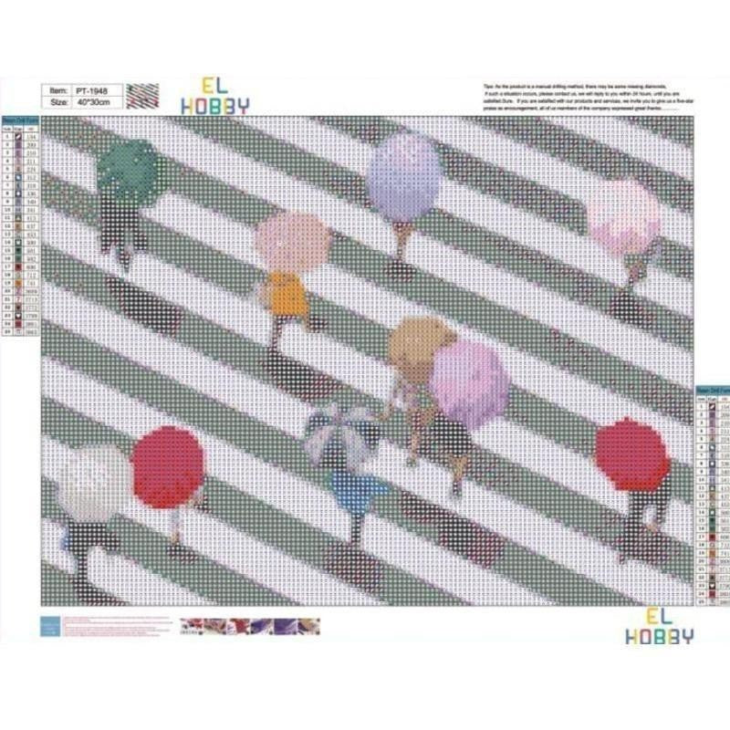Diamond Painting - Umbrellas