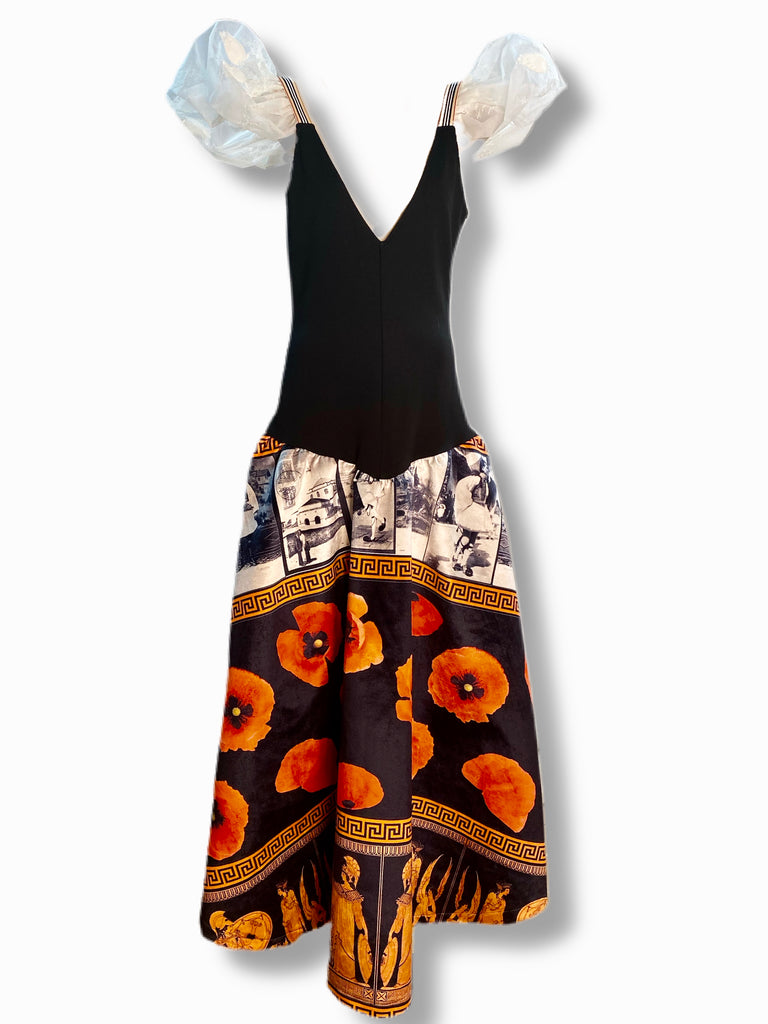 Established Dress: Grecian Print