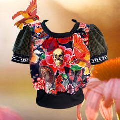 She Walks In Beauty Top: Skull
