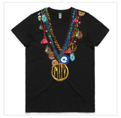 Chain Multi-Colour Necklace  Tshirt