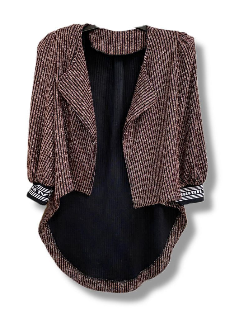Spellbound Jacket: Copper/Black Stripe