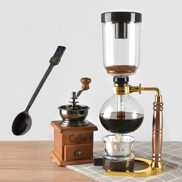 Gold/black Syphone Coffee Maker Japanese Style Siphon Pot 3/5cups TCA-3/5  Pot for Coffee Coffee Pot