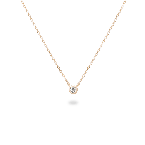 0.05ct Bezel Diamond Necklace - PRMAL