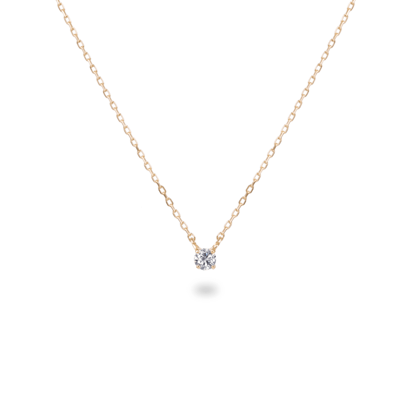 0.05ct Solitaire Diamond Necklace - PRMAL