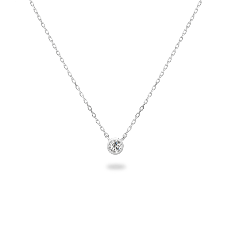 0.1ct Bezel Diamond Necklace