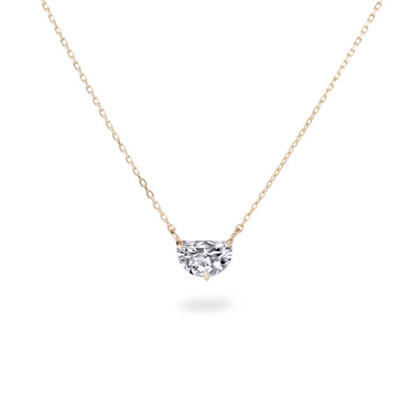 0.5ct Half Moon Diamond Necklace [feat. Diamond Foundry]