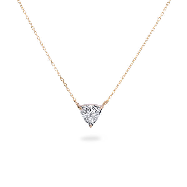 0.5ct Trillion Diamond Necklace [feat. Diamond Foundry]