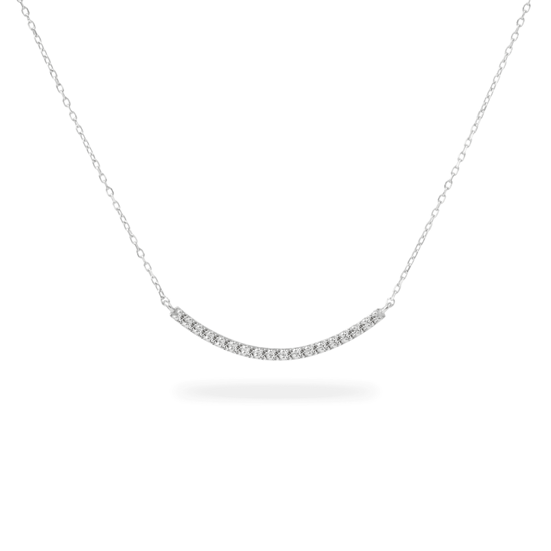 Pave Long Curve Necklace