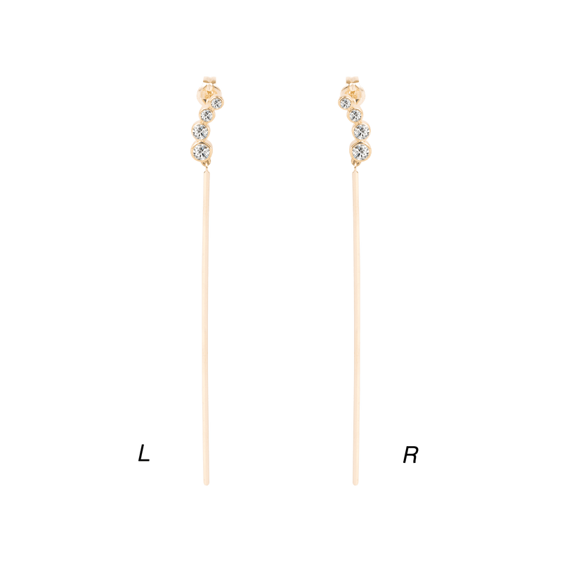 Quartet Diamond Long Earring