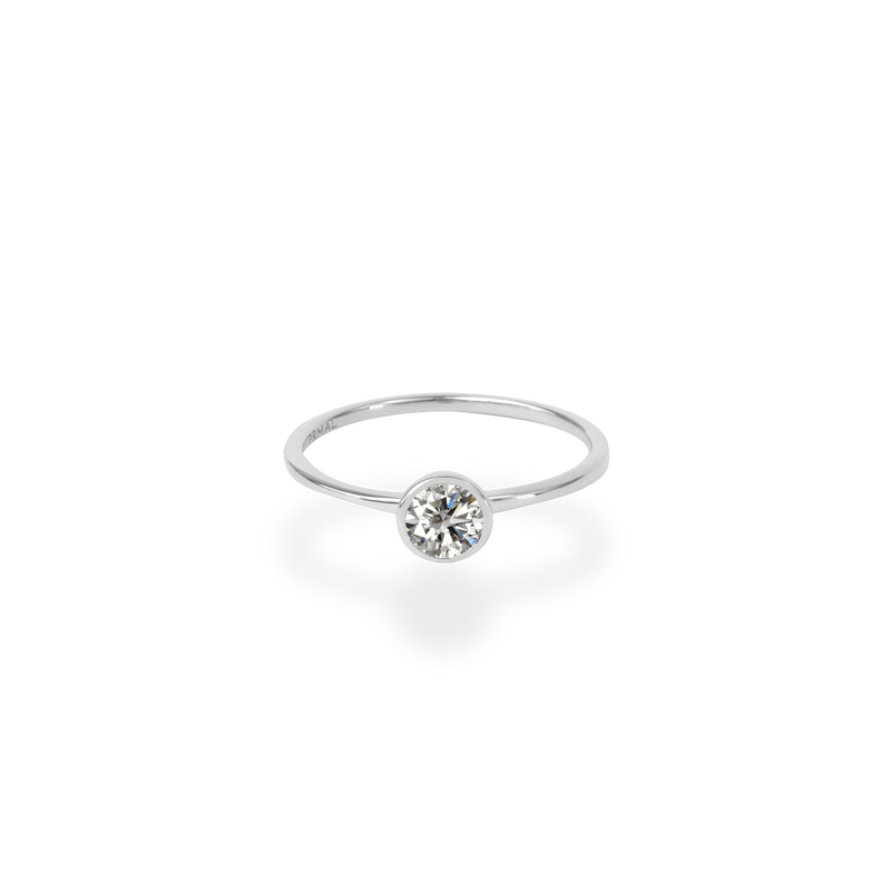 0.3ct Bezel Diamond Ring