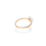 Twin Pearl Pave Ring