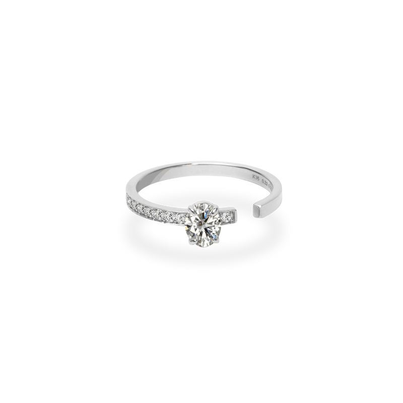 0.3ct Oval Gap Ring [feat. Diamond Foundry]