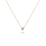 0.1ct Bezel Diamond Necklace - PRMAL