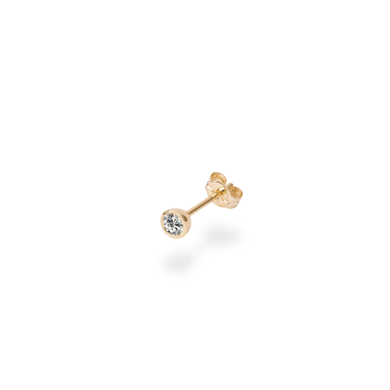 0.1ct Bezel Diamond Studs(single) - PRMAL
