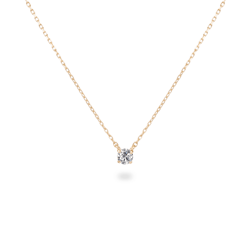 0.1ct Solitaire Diamond Necklace - PRMAL