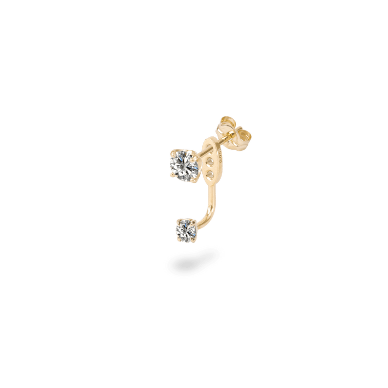 0.1ct Solitaire Earring Charm - PRMAL