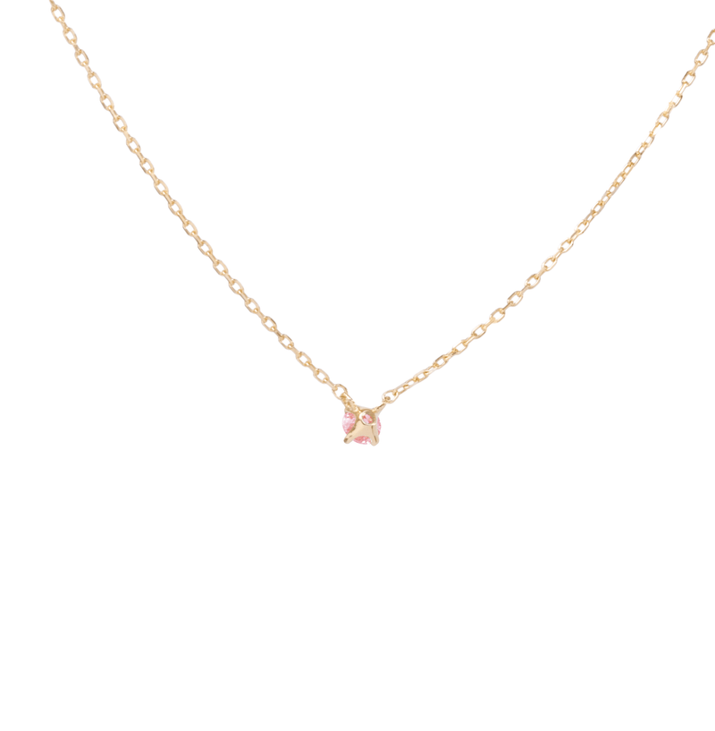0.1ct Solitaire Pink Diamond Necklace - PRMAL