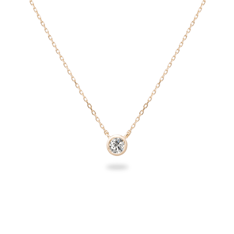 0.3ct Bezel Diamond Necklace - PRMAL