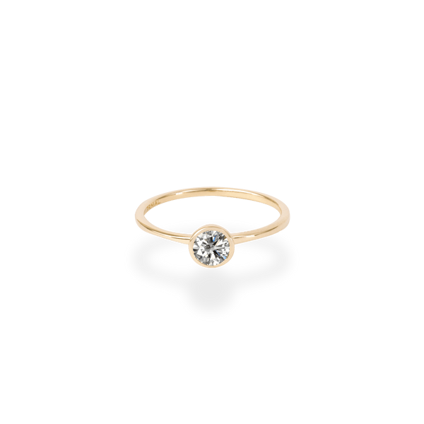 0.3ct Bezel Diamond Ring - PRMAL