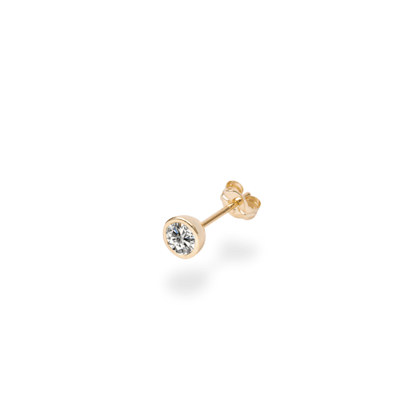 0.3ct Bezel Diamond Studs(single) - PRMAL