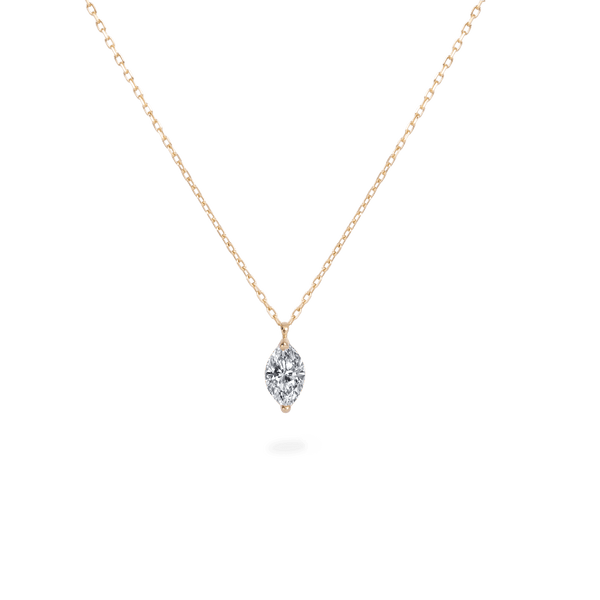 0.3ct Marquis Diamond Necklace [feat. Diamond Foundry] - PRMAL