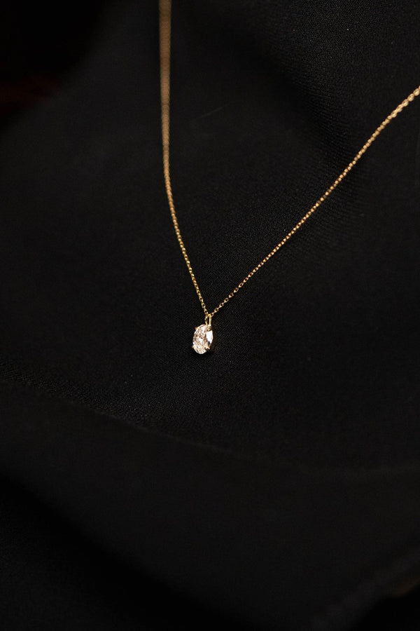 0.3ct Oval Diamond Necklace [feat. Diamond Foundry] - PRMAL